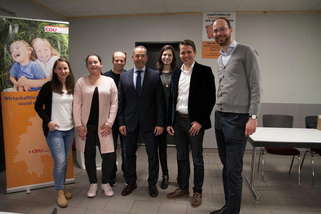 JU Eschborn mit Bürgermeisterkandidat Adnan Shaikh