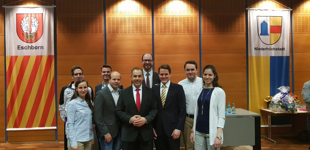 JU-Eschborn mit Bürgermeister Adnan Shaikh